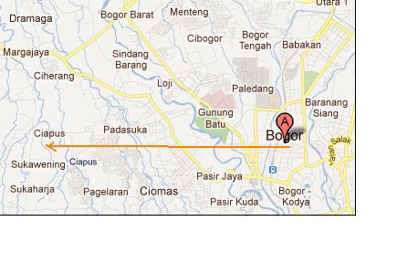 peta jalan bogor ciapus 310811 A