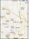 peta jalan ke ciseeng dari kota bogor curug mekar