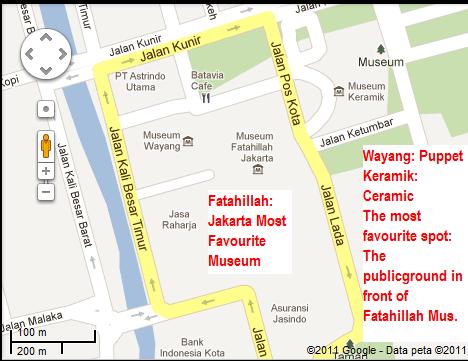 Rough roadmap OLD TOWN of Jakarta | jalan kuliner khas