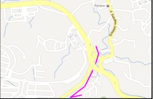 peta alternatif SENTUL CIPAYUNG B3 u turn ke bukit pelangi