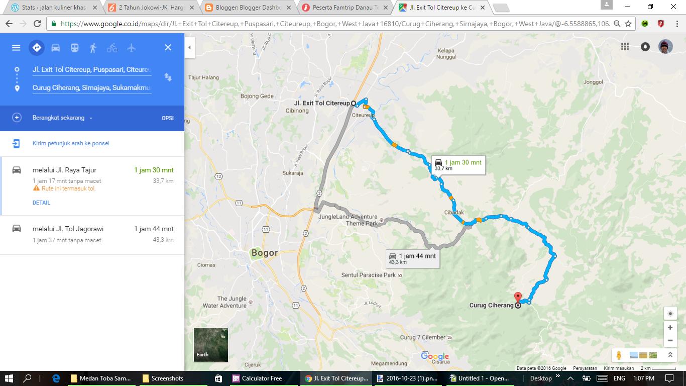 Peta Jalan Kasar Ke Curug Ciherang Jonggol Bogor Jalan Kuliner Khas
