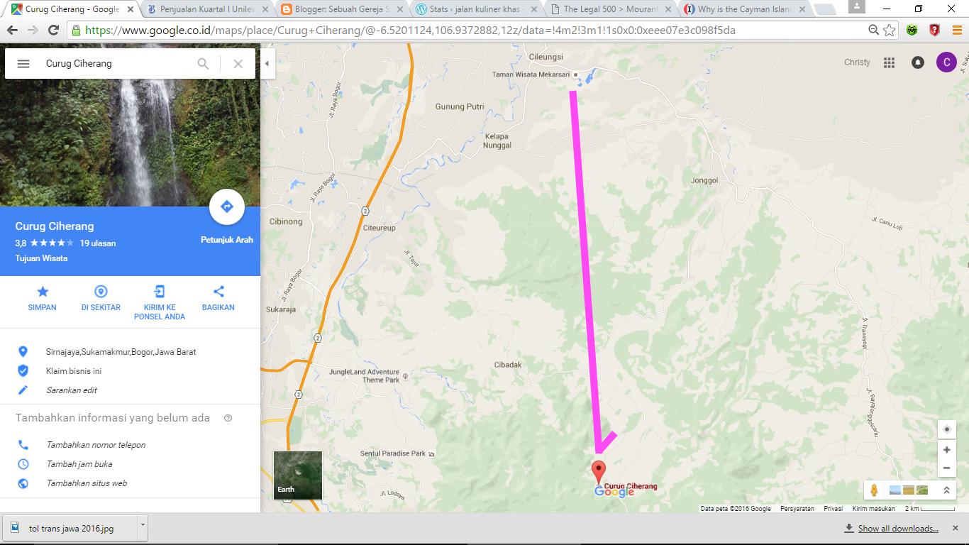 Peta Cileungsi Jonggol Gunung Putri Curug Ciherang Jalan Kuliner Khas