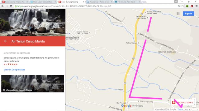 Kota Cianjur k Jl Abdullah b Nuh k Rancagoong k Cilaku k Situs Gn Pdg