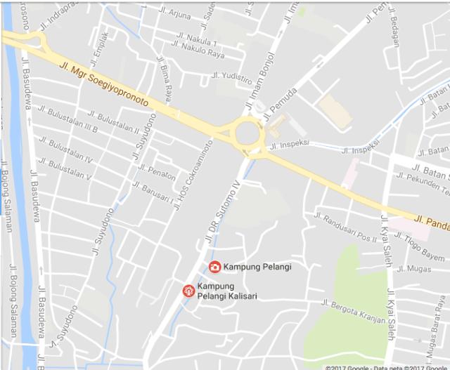peta kasar 2 kamp pelangi Semarang 2017jl soetomo