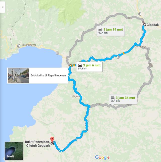 peta jalan kasar Cimanggu Bukit Panenjoan Ciletuh B