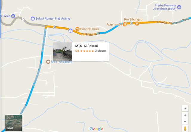 peta jalan kasar Cimanggu Jl Simpenan