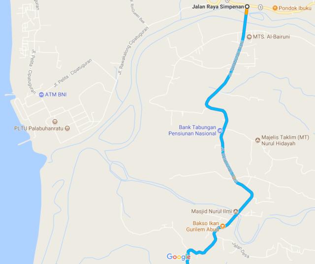 peta jalan kasar Jl Simpenan_Polsek Simpenan B