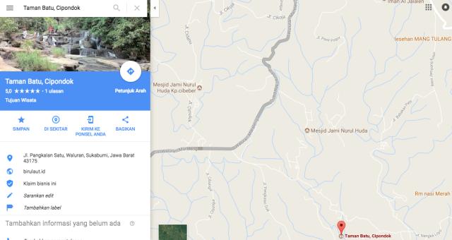 peta jalan kasar Polsek Simpenan_Bukit Panenjoan E