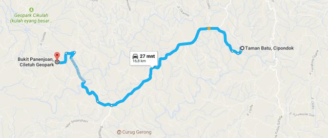 peta jalan kasar Polsek Simpenan_Bukit Panenjoan F